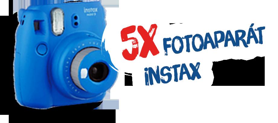 5x fotoaparát Instax