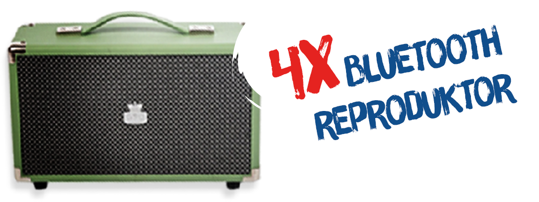 5x bluetooth reproduktor